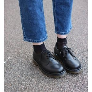 DR MARTENS IMMANUEL black leather low top boots